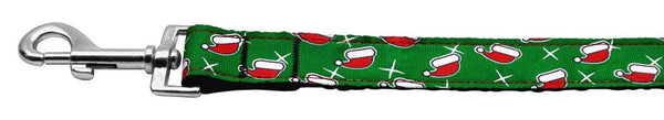 Santa Hat Nylon Dog Leash 5/8 Inch Wide Long