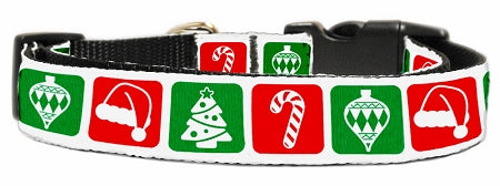Timeless Christmas Nylon Dog Collar.