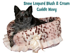 Snow Leopard Reversible Snuggle Bugs Pet Bed, Bag, And Car Seat In One.