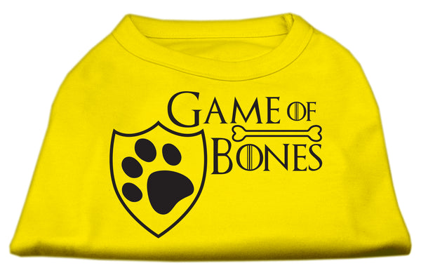 Game Of Bones Screen Print Dog Shirt.