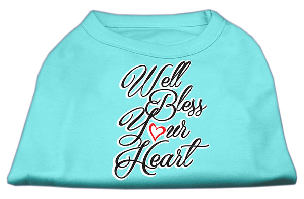 Well Bless Your Heart Screen Print Dog Shirt.