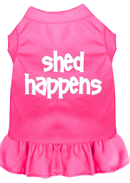 Shed Happens Screen Print Dress Bright Pink.