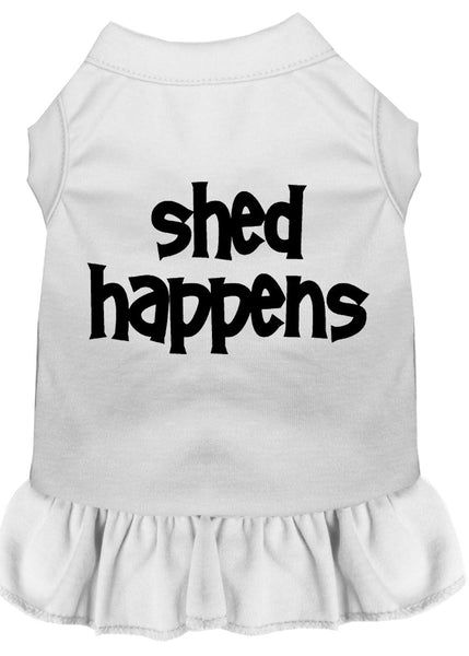 Shed Happens Screen Print Dress White.