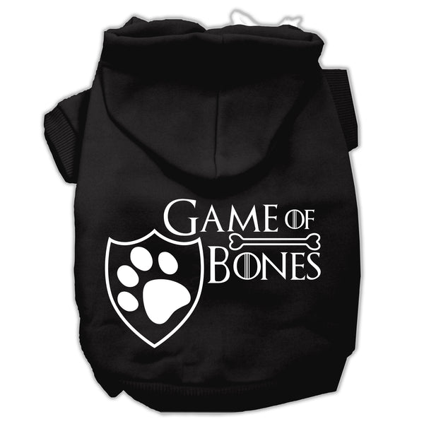 Game Of Bones Screenprint Dog Hoodie.