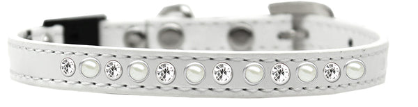 Pearl And Clear Jewel Breakaway Cat Collar Size.