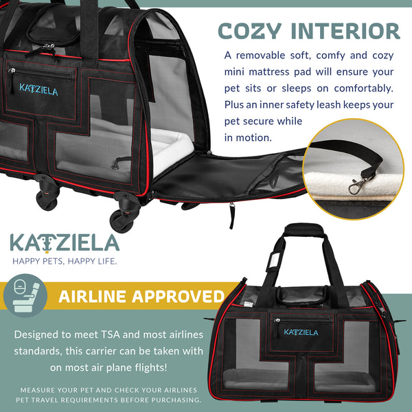 Katziela Airline Approved Pet Carrier.