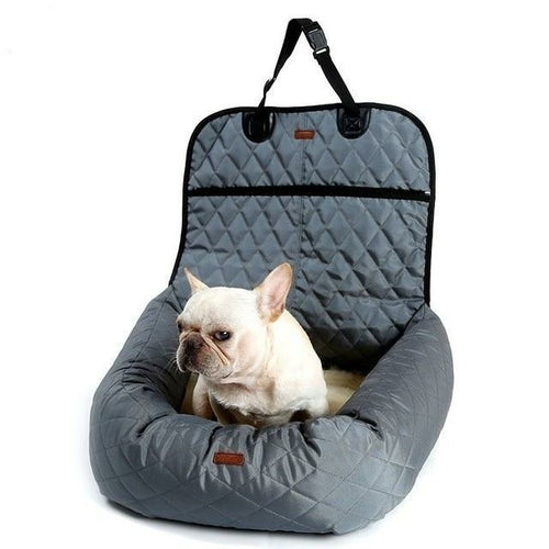 2 In 1 Pet Dog Carrier Folding Car Seat Pad Safe Carry House Puppy Bag.
