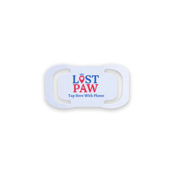 Lost Paw PVC Slip on Tags   simple slip on to your current collar and can be scanned like all lost paw pet products