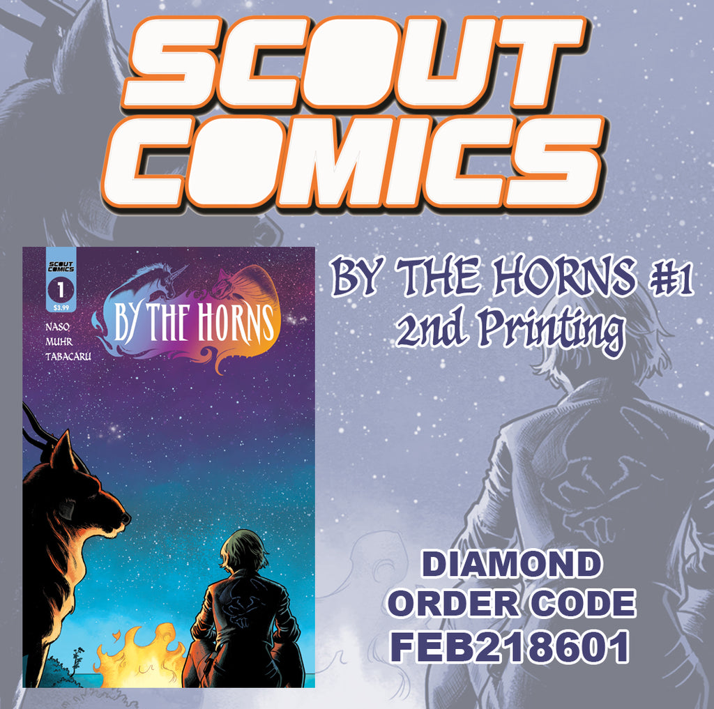 Scout Comics Hit Fantasy Adventure BY THE HORNS #1 Goes To Second Print!
