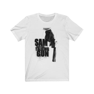 Sam and His Talking Gun (Gun Design)  - Unisex Jersey T-Shirt