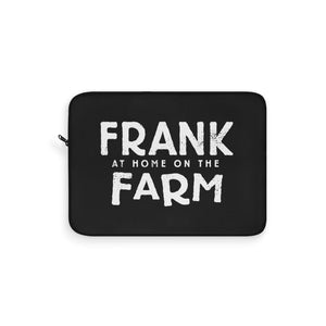 Frank At Home On The Farm (Logo Design) - Black Laptop Sleeve