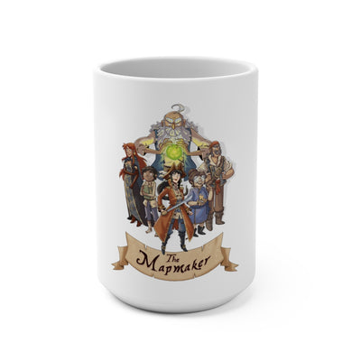 The Mapmaker (Design 2) - White Coffee Mug 15oz