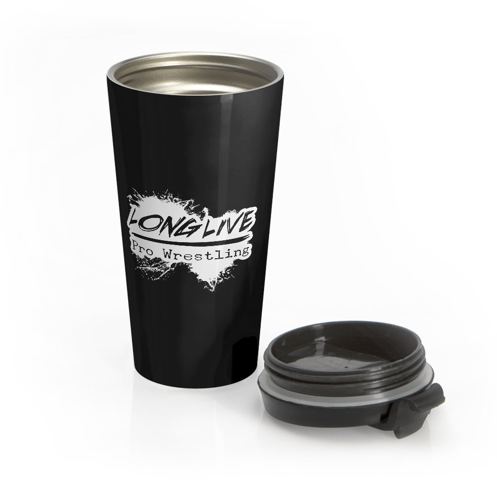 Long Live Pro Wrestling (Logo Design) - Stainless Steel Travel Mug