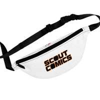 Scout Comics (Black Logo Design) - White Fanny Pack