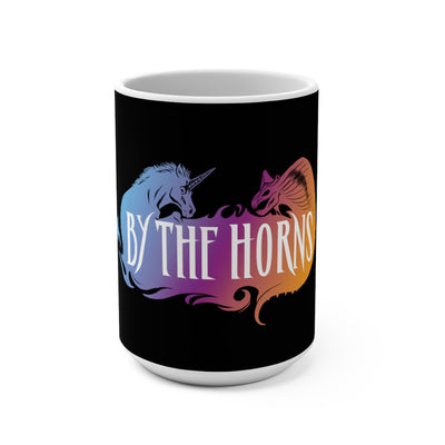 By The Horns (Logo Design) - Black Coffee Mug 15oz