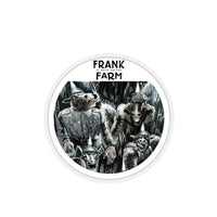 Frank At Home On The Farm (Design One) - Kiss-Cut Stickers