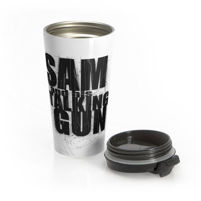 Sam And His Talking Gun (Logo Design) - Stainless Steel Travel Mug