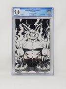 CGC Graded - Stabbity Bunny #1 - 2019 NYCC Exclusive B&W Sketch Cover - 9.8