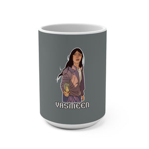 Yasmeen (Yasmeen Design) -  Grey Mug 15oz