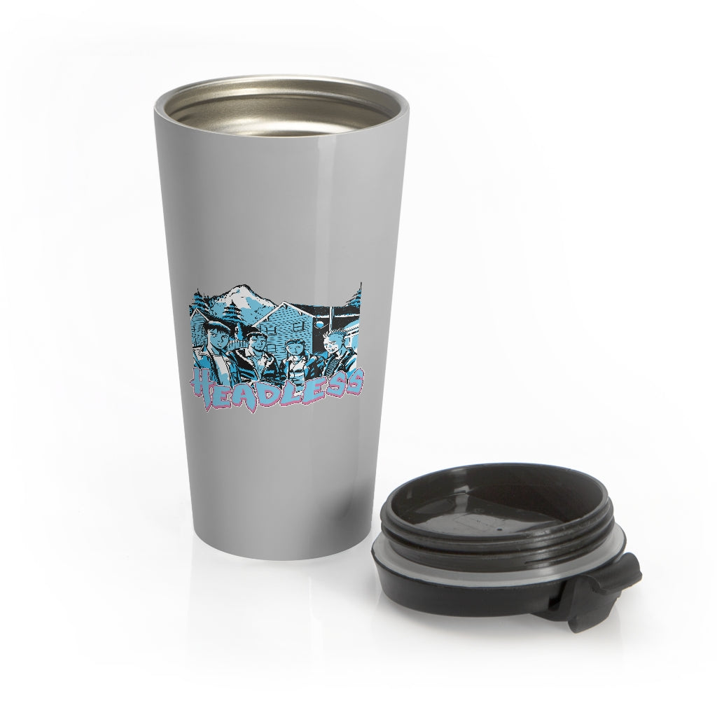 Headless (Gremlin Design) - Grey Stainless Steel Travel Mug