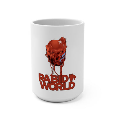 Rabid World (Head Design) - White Coffee Mug 15oz