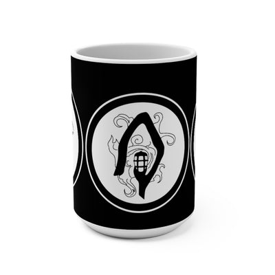 The Shepherd (Symbol Design) - Black Coffee Mug 15oz
