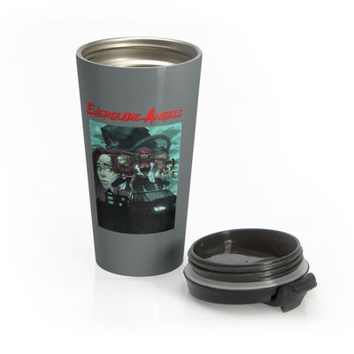 Everglade Angels (Issue One Design) - Grey Stainless Steel Travel Mug