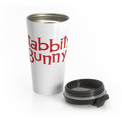 Stabbity Bunny (Logo Design) - Stainless Steel Travel Mug
