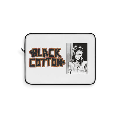Black Cotton (Logo Art Design) - White Laptop Sleeve