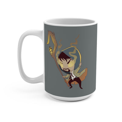 The Shepherd (Chibi Shepherd Design) - Grey Coffee Mug 15oz
