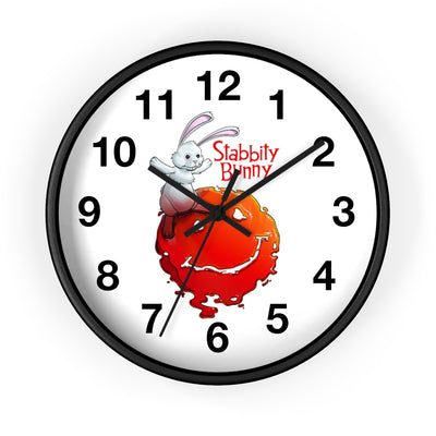 Stabbity Bunny (#1 Cover Design) - Wall Clock