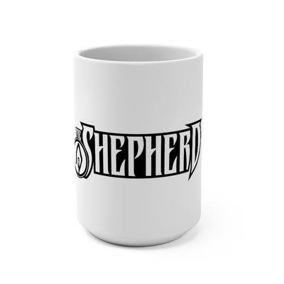 The Shepherd (Logo Design) - White Coffee Mug 15oz