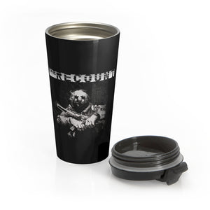 The Recount (Design One) - Black Stainless Steel Travel Mug