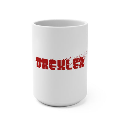 Drexler (Red Logo Design) - White Coffee Mug 15oz