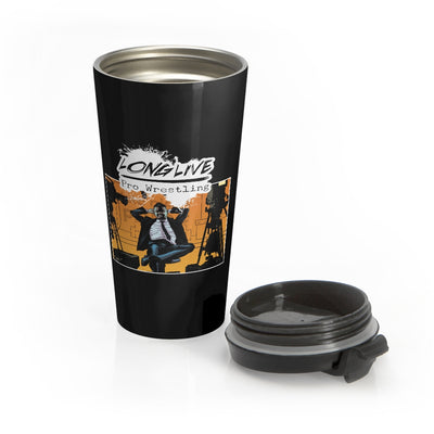 Long Live Pro Wrestling (Issue #0 Design) - Stainless Steel Travel Mug