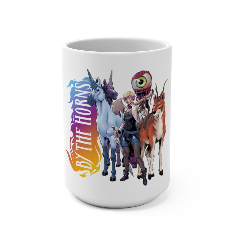 By The Horns (Group Design) - White Coffee Mug 15oz