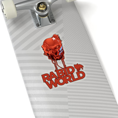 Rabid World (Head Design) - Kiss-Cut Stickers