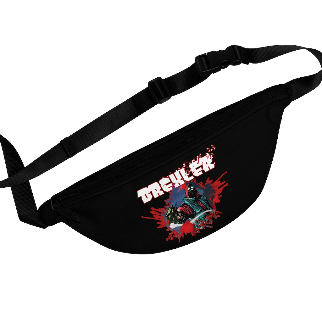 Drexler (Bullet Hole Design) - Black Fanny Pack