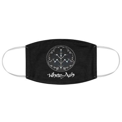 White Ash (Logo Design) - Black Fabric Face Mask