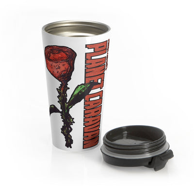 Planet Caravan (Rose Design) - Stainless Steel Travel Mug