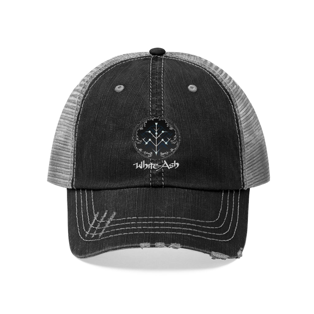 White Ash (Symbol Design) - Unisex Trucker Hat