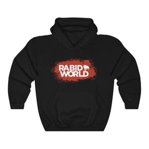 Rabid World (Red Splatter Design) - Heavy Blend™ Hooded Sweatshirt