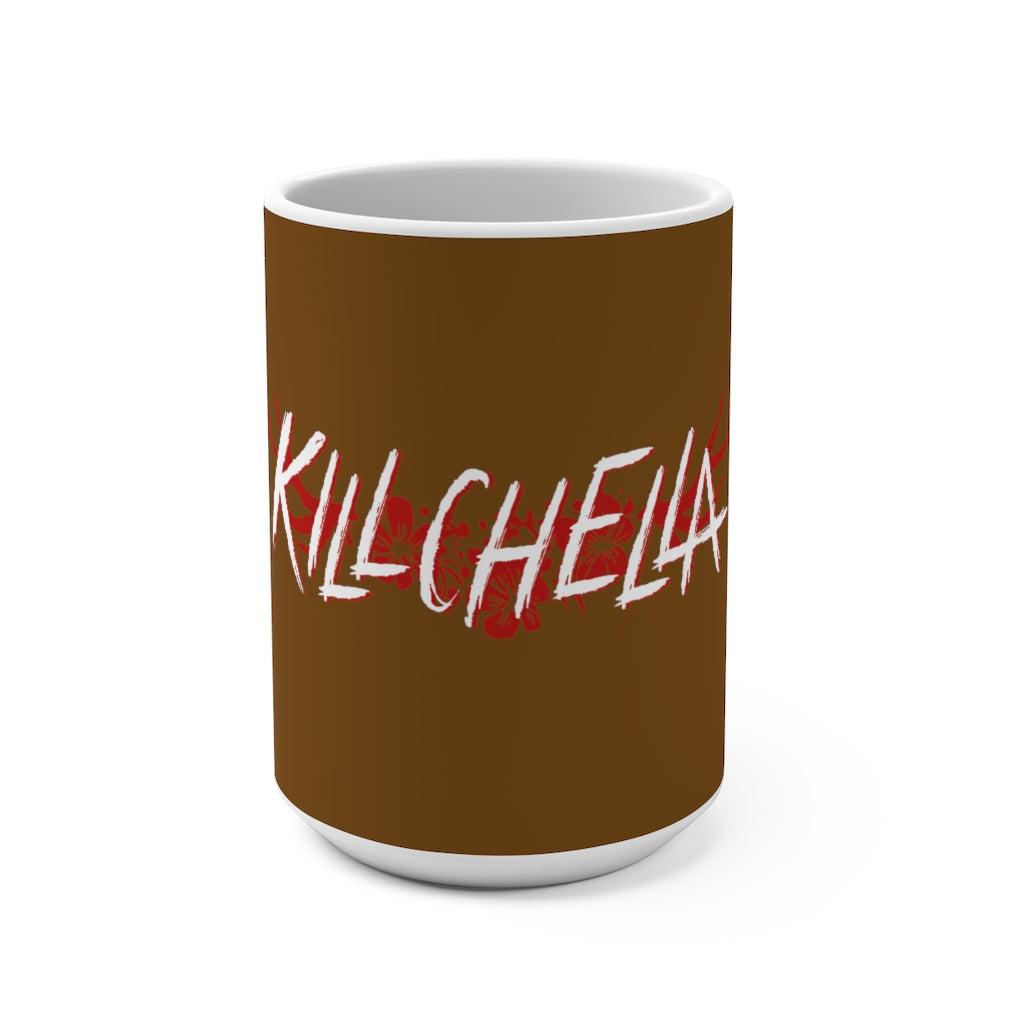 Killchella (White Logo Design) - Brown Coffee Mug 15oz