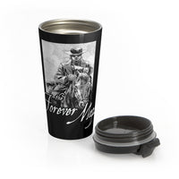 Forever Maps (Horseback Design) - Black Stainless Steel Travel Mug