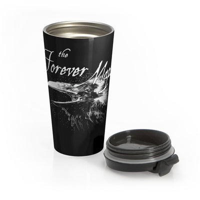 Forever Maps (Crow Design) - Black Stainless Steel Travel Mug