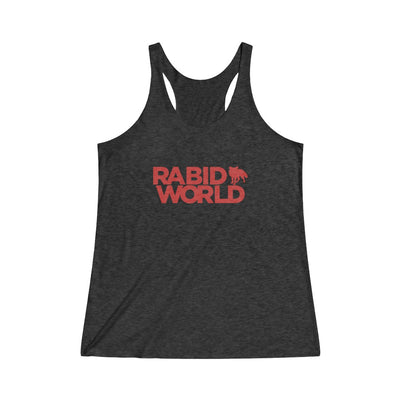 Rabid World (Red Logo Design) - Women's Tri-Blend Racerback Tank