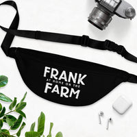 Frank At Home On The Farm (Logo Design) - Black Fanny Pack
