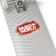 Rabid World (Red Splatter Logo Design) - Kiss-Cut Stickers