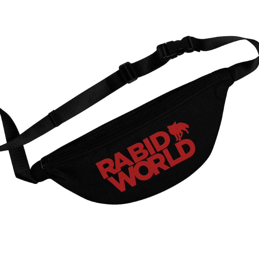 Rabid World (Red Logo Design) - Black Fanny Pack
