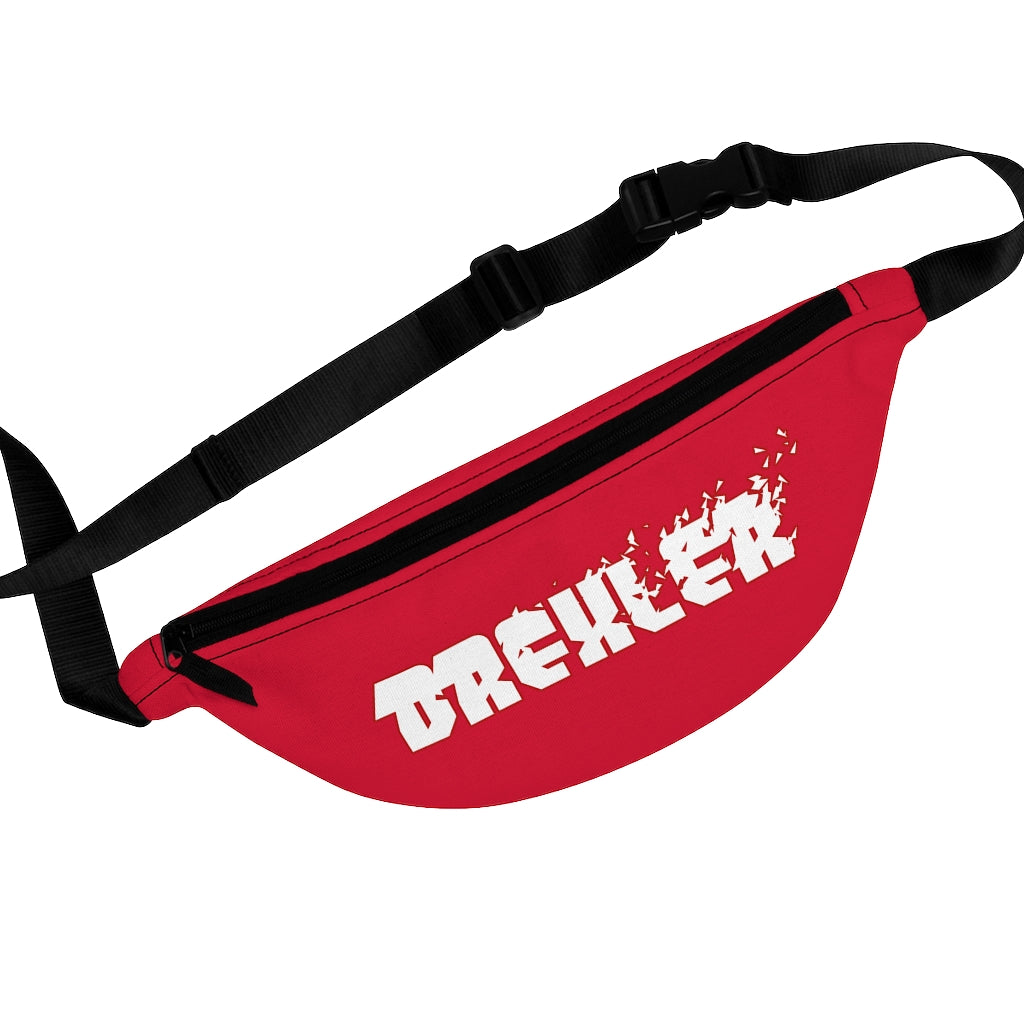 Drexler (White Logo Design) - Red Fanny Pack